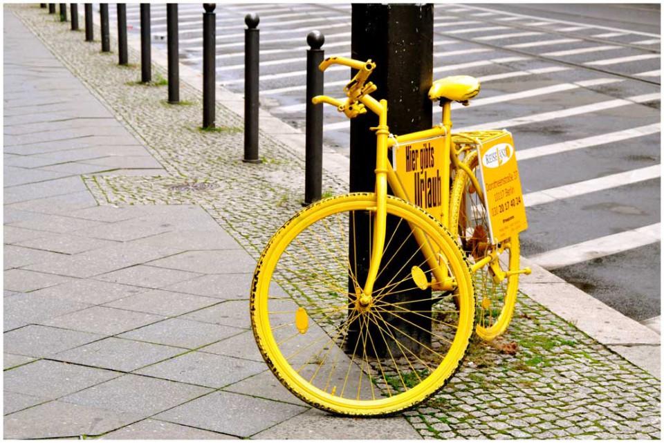 Urban - gelbes Fahrrad